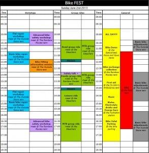 Bike Fest 2013 Schedule